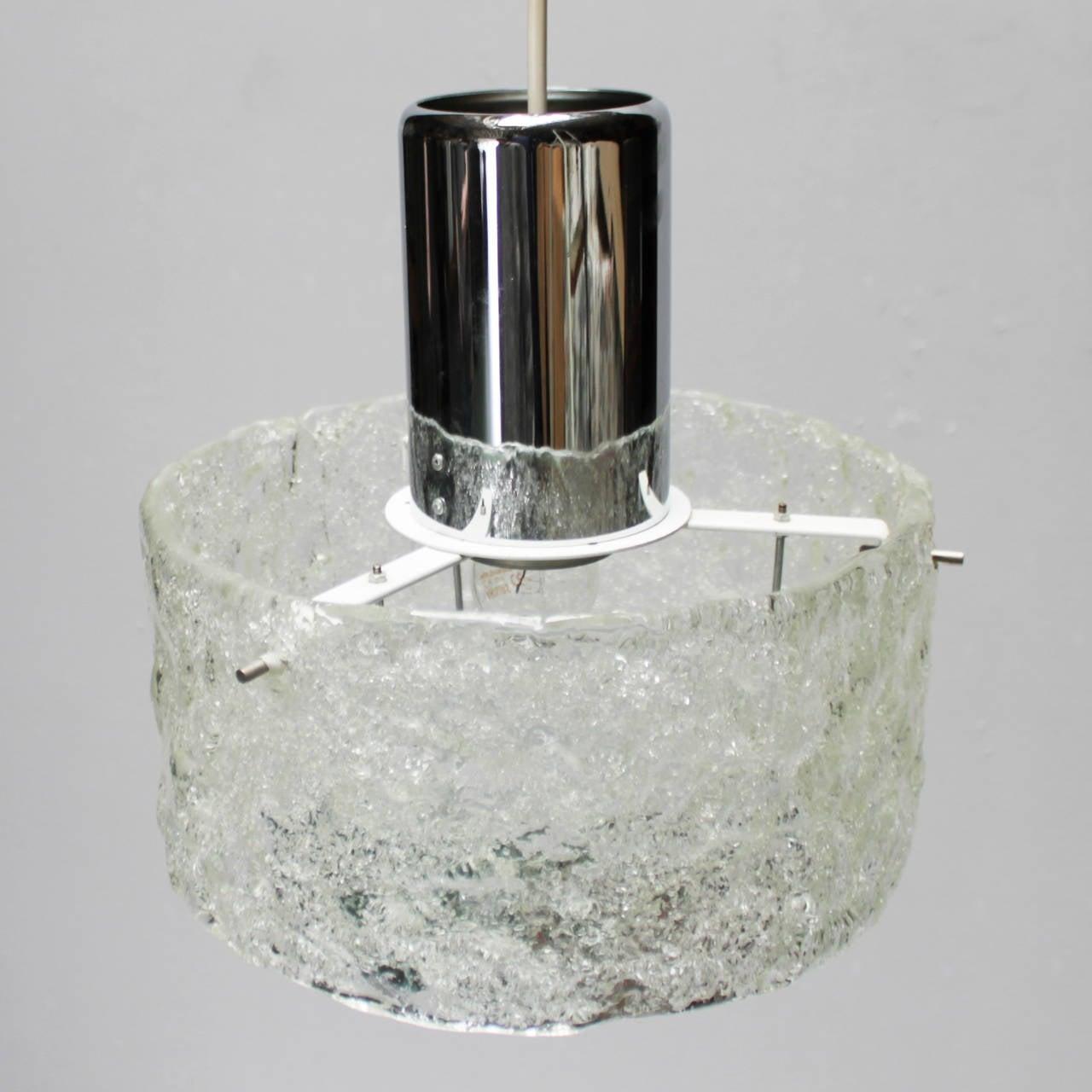 Mid-Century Modern Pendant in the style of Kalmar Lighting For Sale