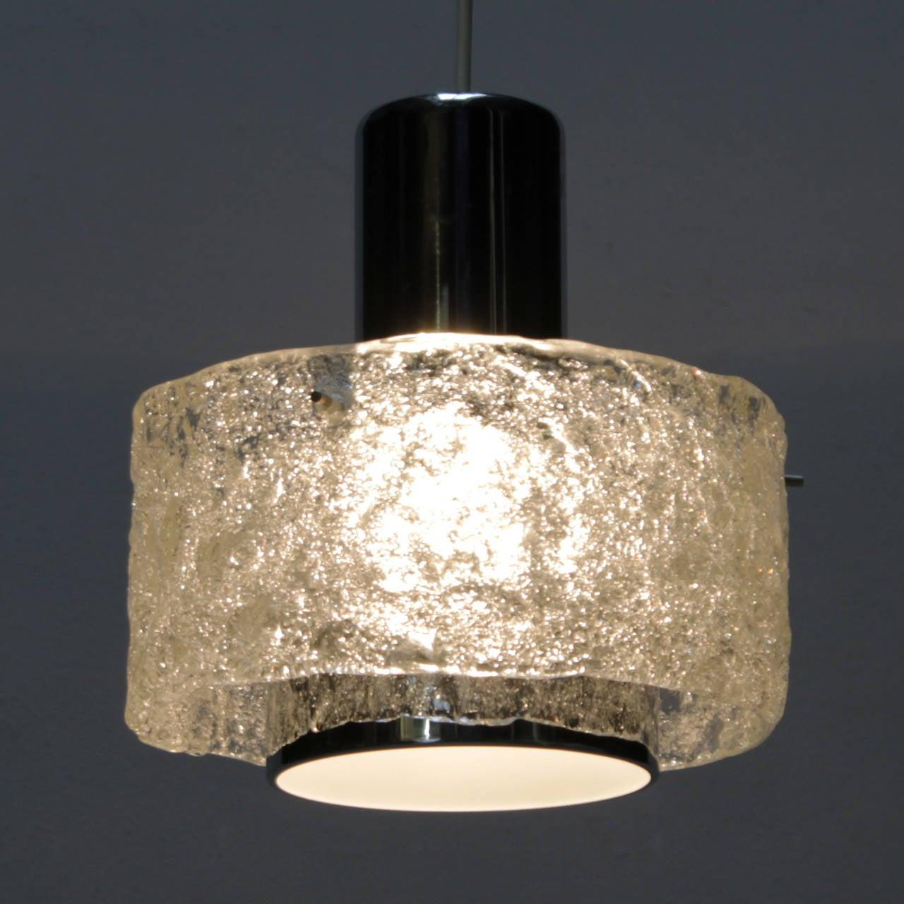 German Pendant in the style of Kalmar Lighting For Sale