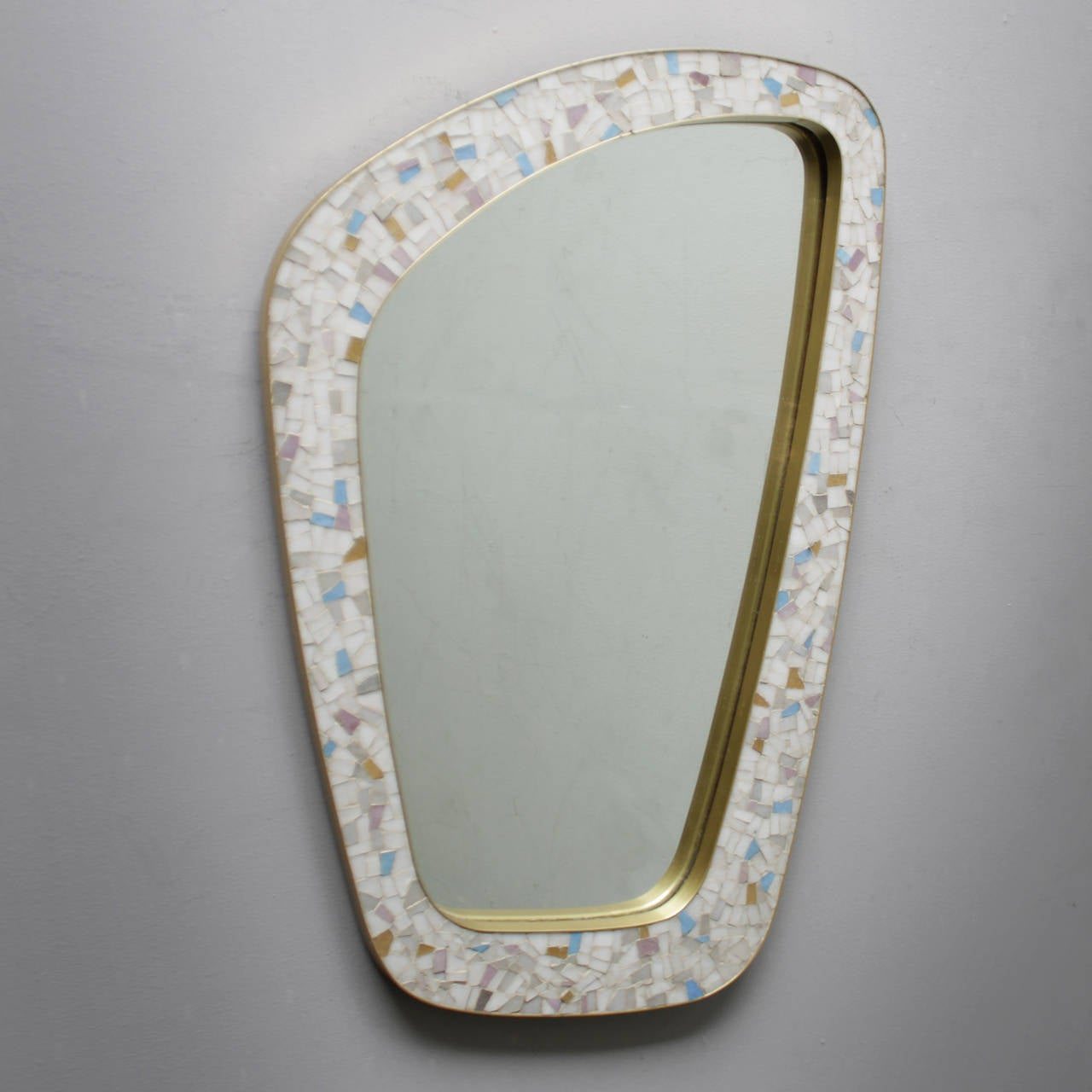 Large mid century mosaic tile mirror at 1stdibs for Mosaic mirror