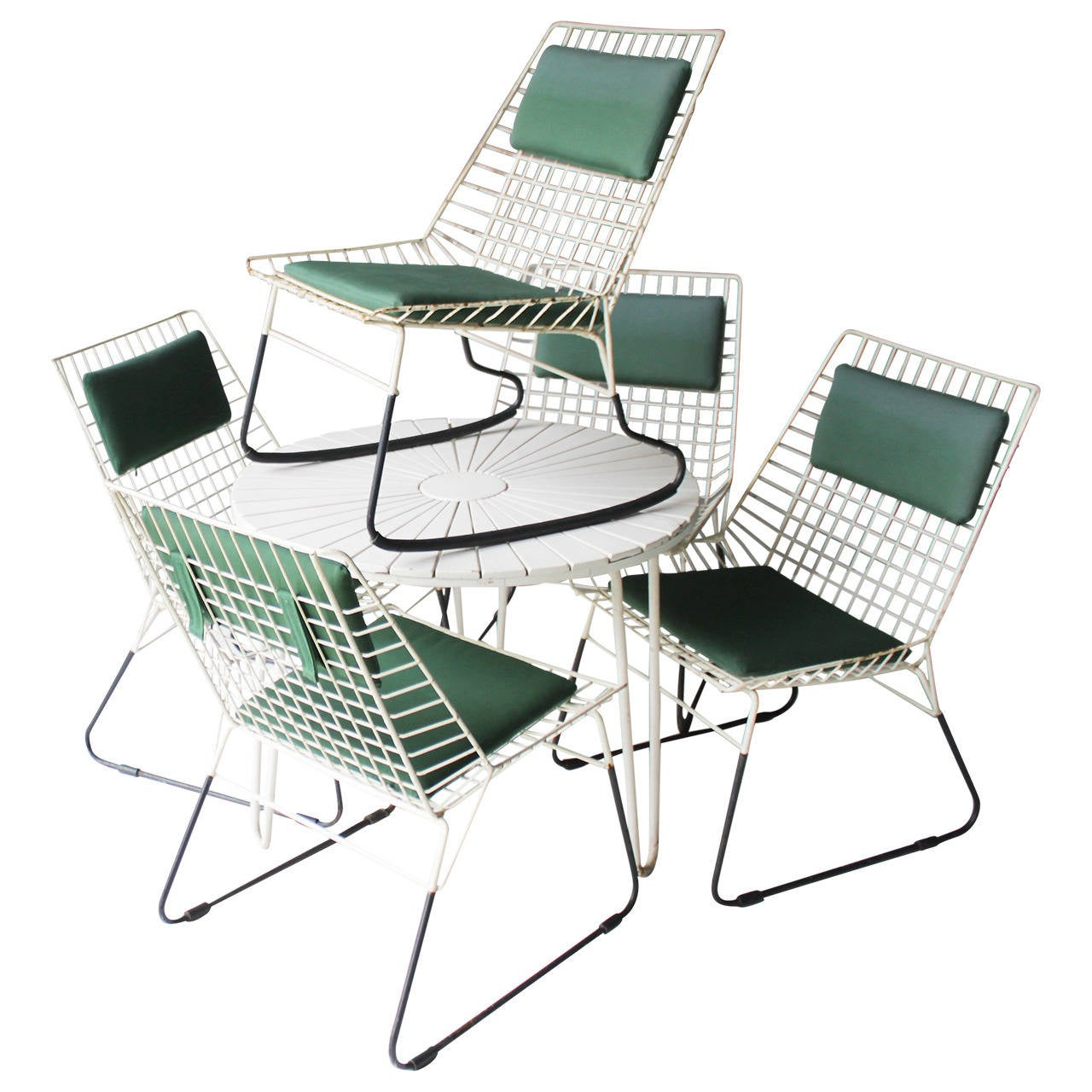 Set of Five Flamingo Chairs by Cees Braakman for Pastoe For Sale