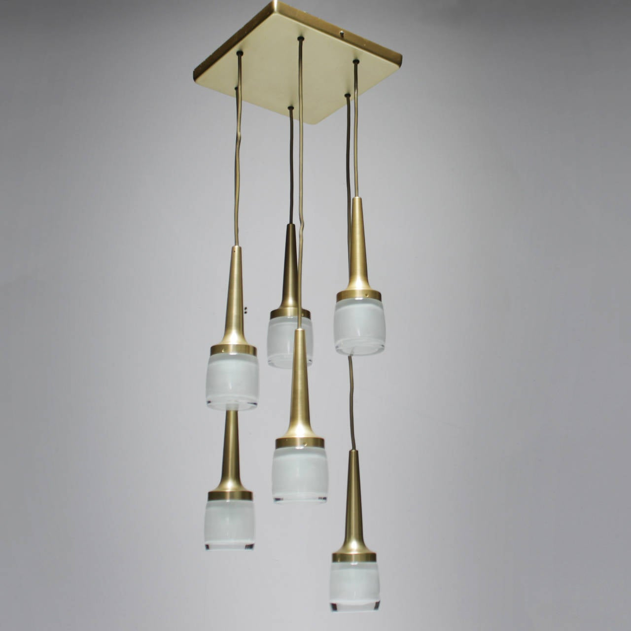 Pendant Lighting Germany : Fixture with six staff pendants germany for sale at stdibs