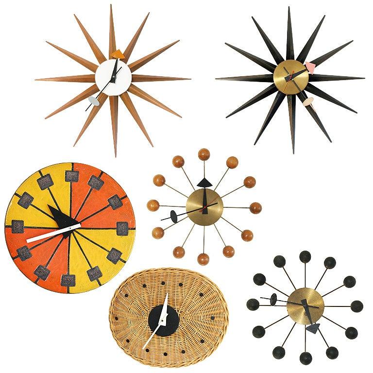 six george nelson clocks at 1stdibs. Black Bedroom Furniture Sets. Home Design Ideas