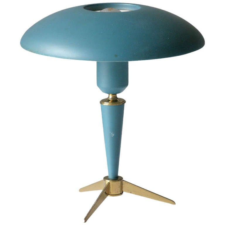 tripod table lamp by louis kalff for philips 1
