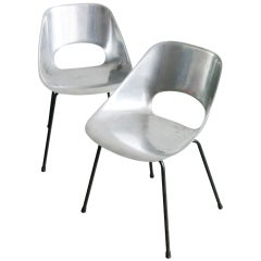 Pair of 'Tulipe' chairs by Pierre Guariche