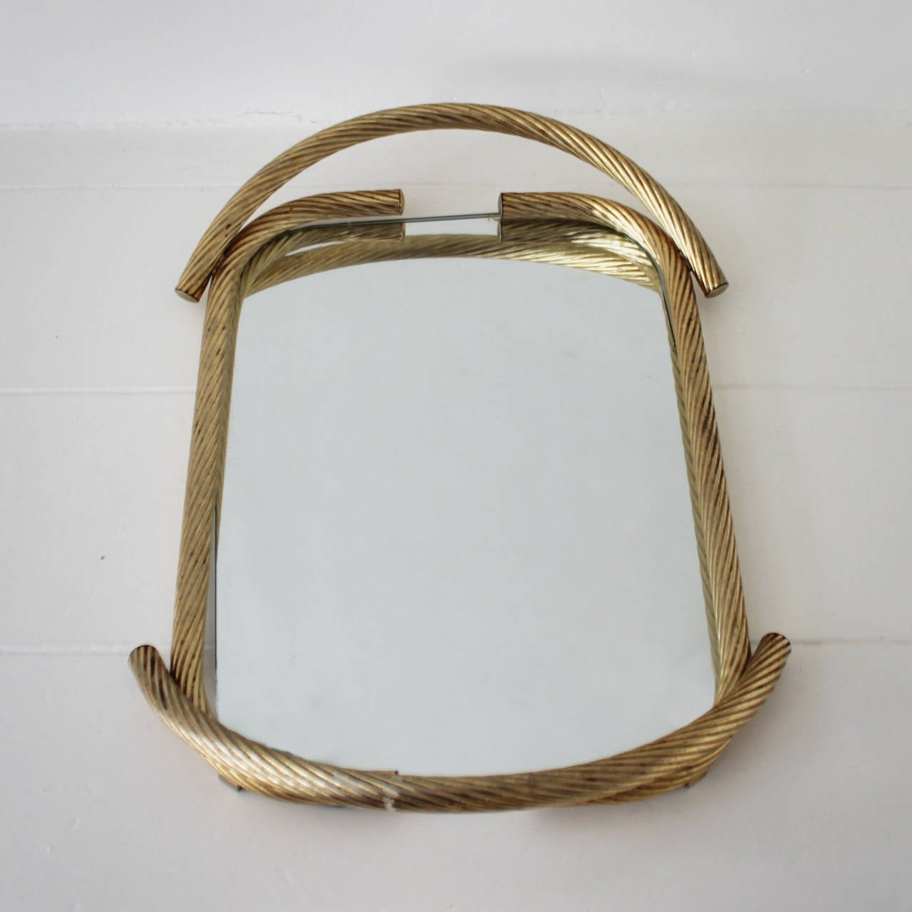 French Rope Mirror Serving Tray In Excellent Condition For Sale In JM Haarlem, NL