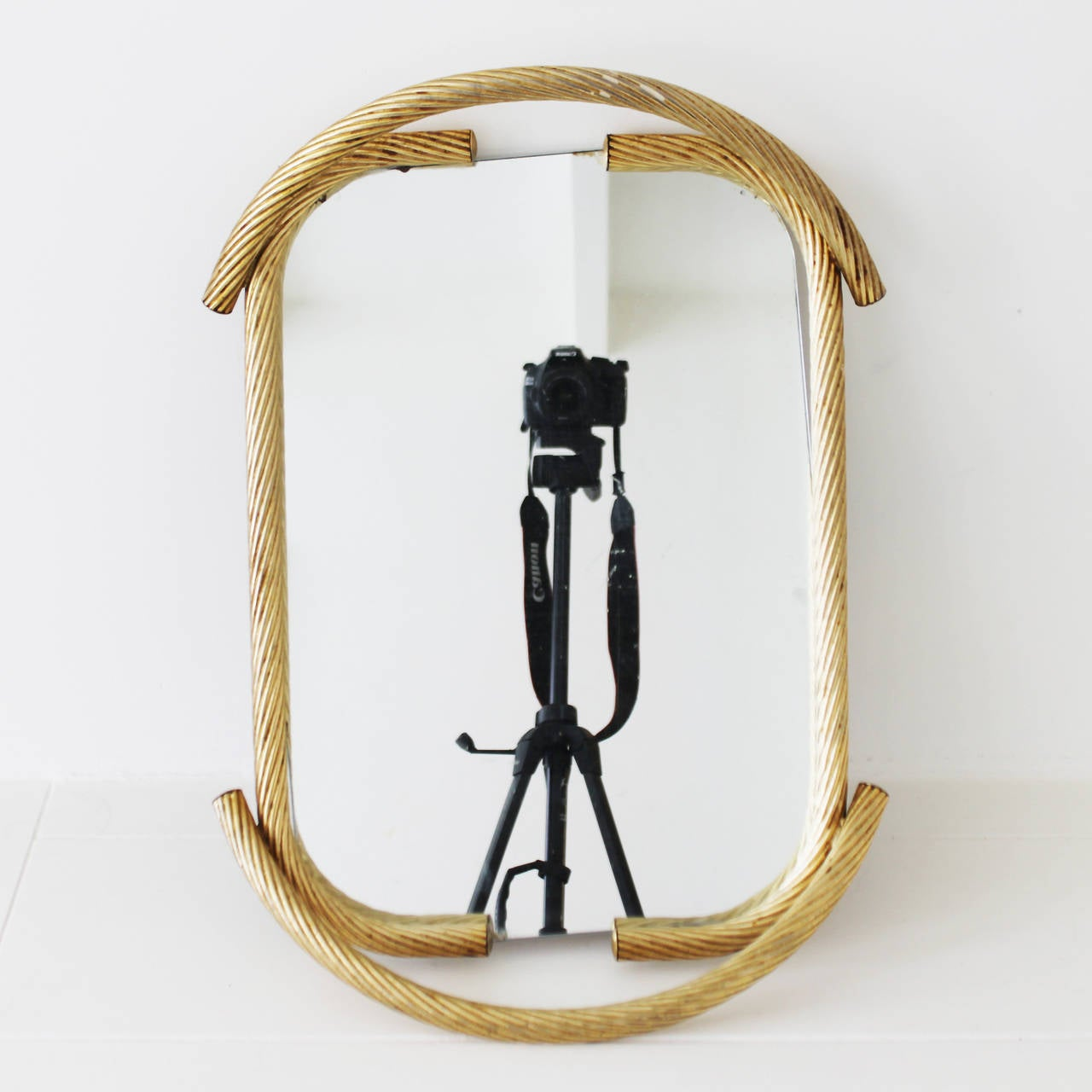 French Rope Mirror Serving Tray For Sale 3