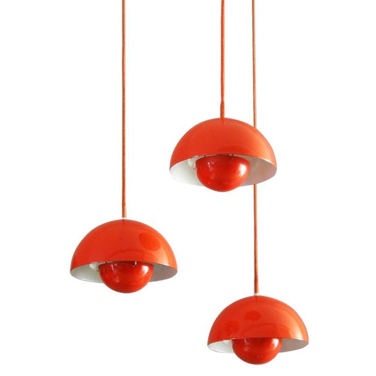 verner panton flower pot lamps at 1stdibs. Black Bedroom Furniture Sets. Home Design Ideas