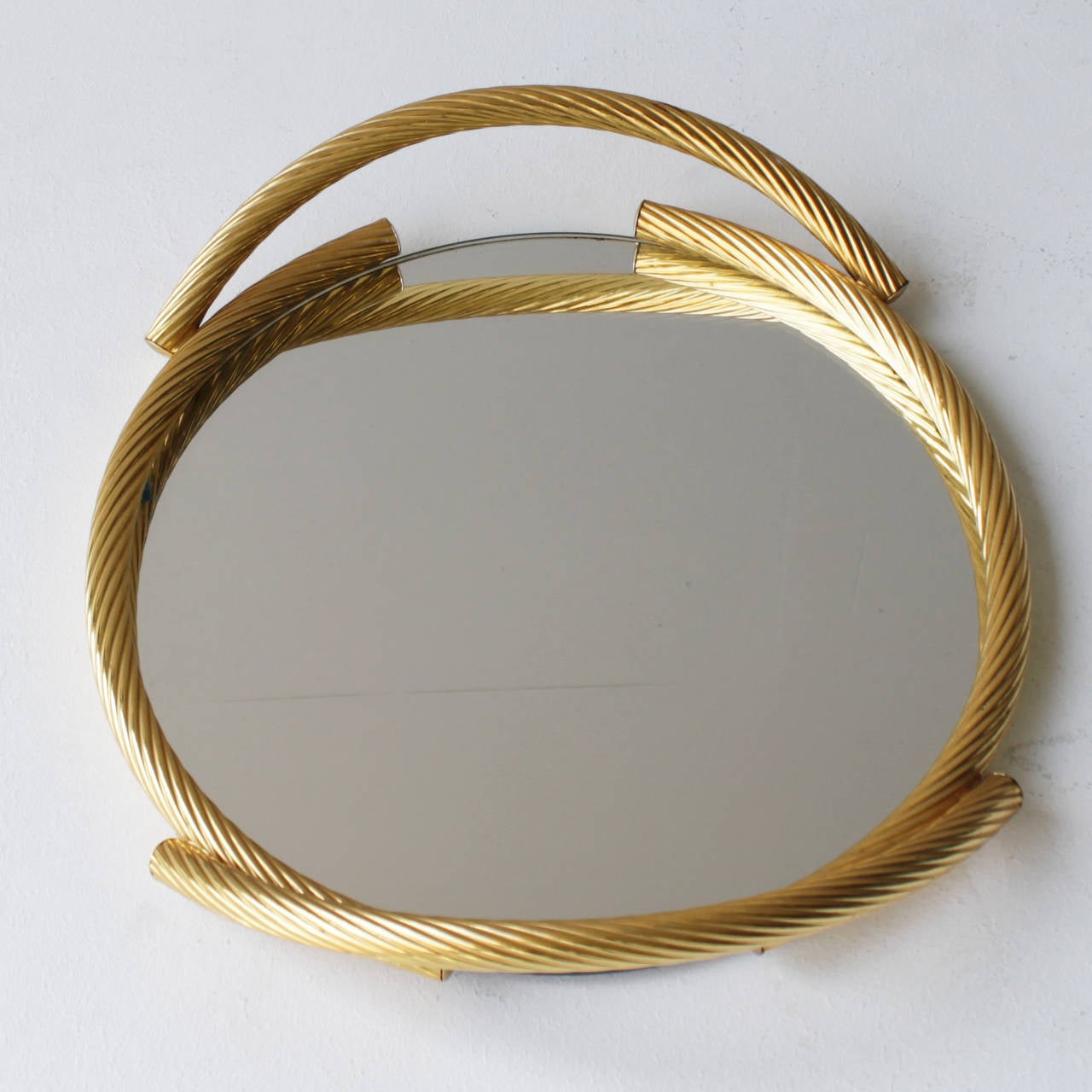 French Rope Mirror Serving Tray At 1stdibs