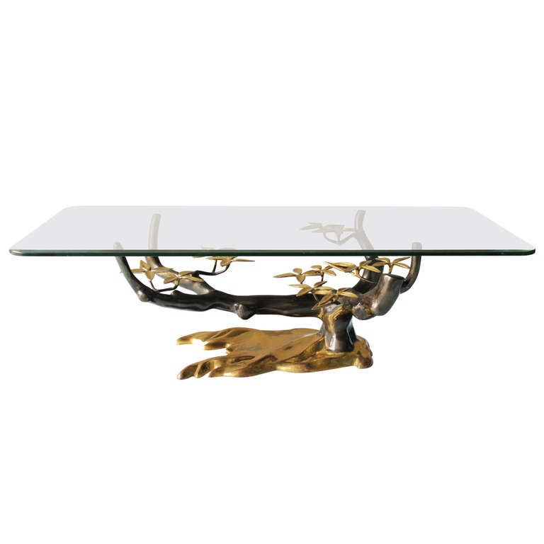 Brass 'Tree' Coffee Table by Willy Daro