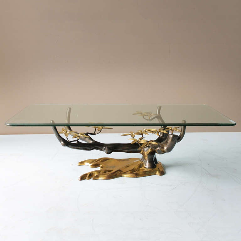 Mid-Century Modern Brass 'Tree' Coffee Table by Willy Daro