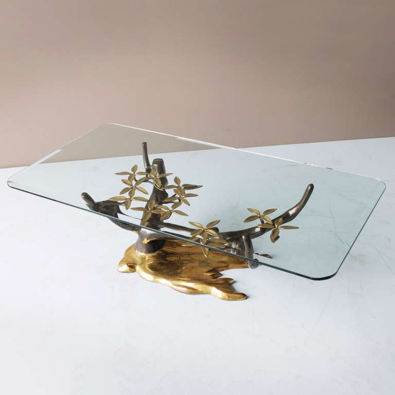 Belgian Brass 'Tree' Coffee Table by Willy Daro