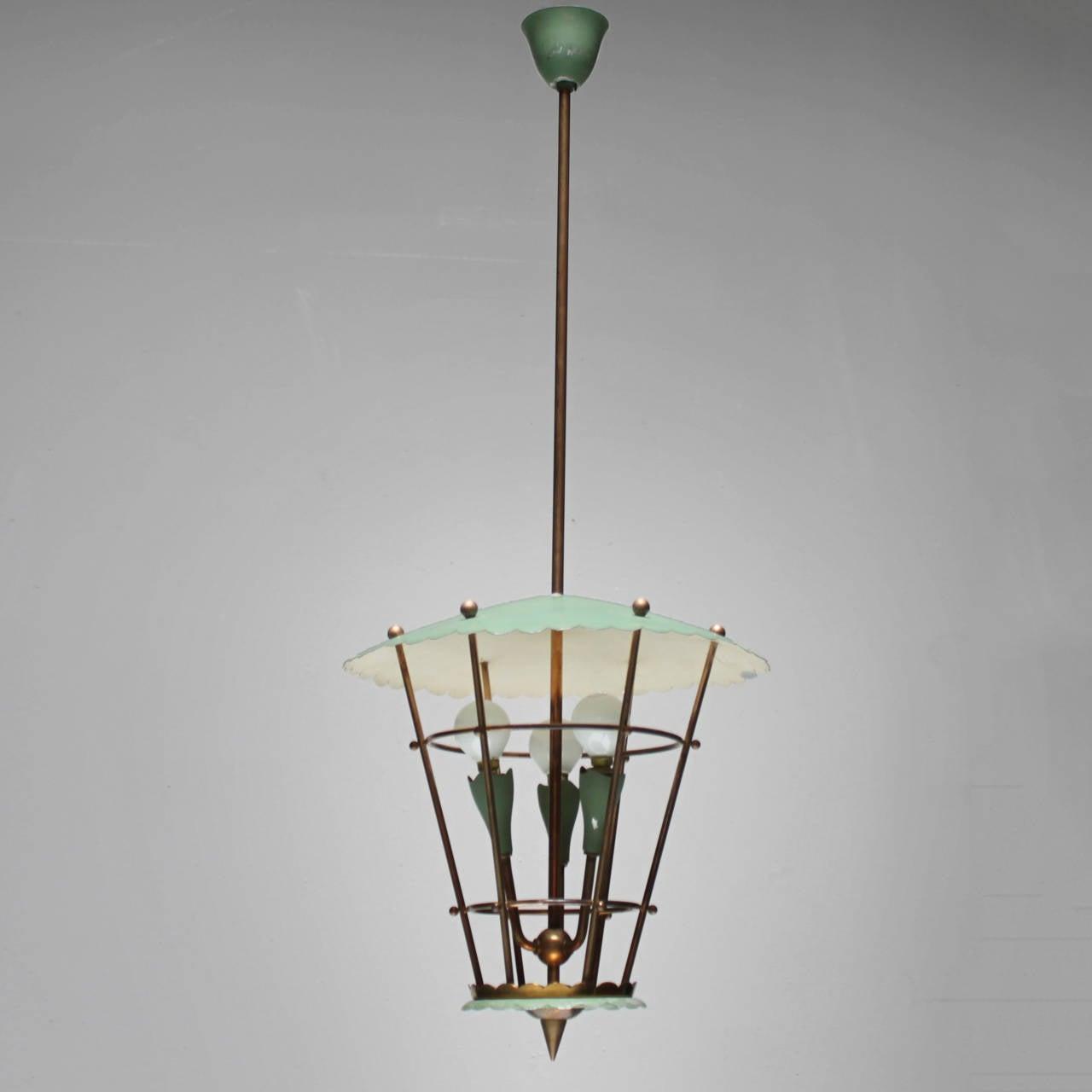Mid-Century Modern Italian Lantern For Sale