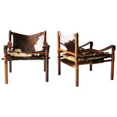 Pair of Scirocco Safari Chairs by Arne Norell for Scanform