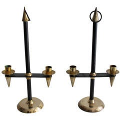 Pair of Candlesticks Attributed to Gio Ponti