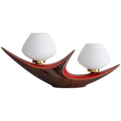 Ceramic French Double Table Lamp