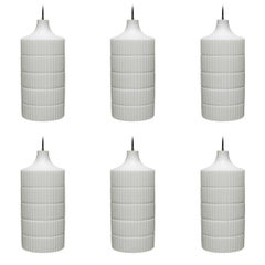 Six Large Pendants by Peill & Putzler Germany