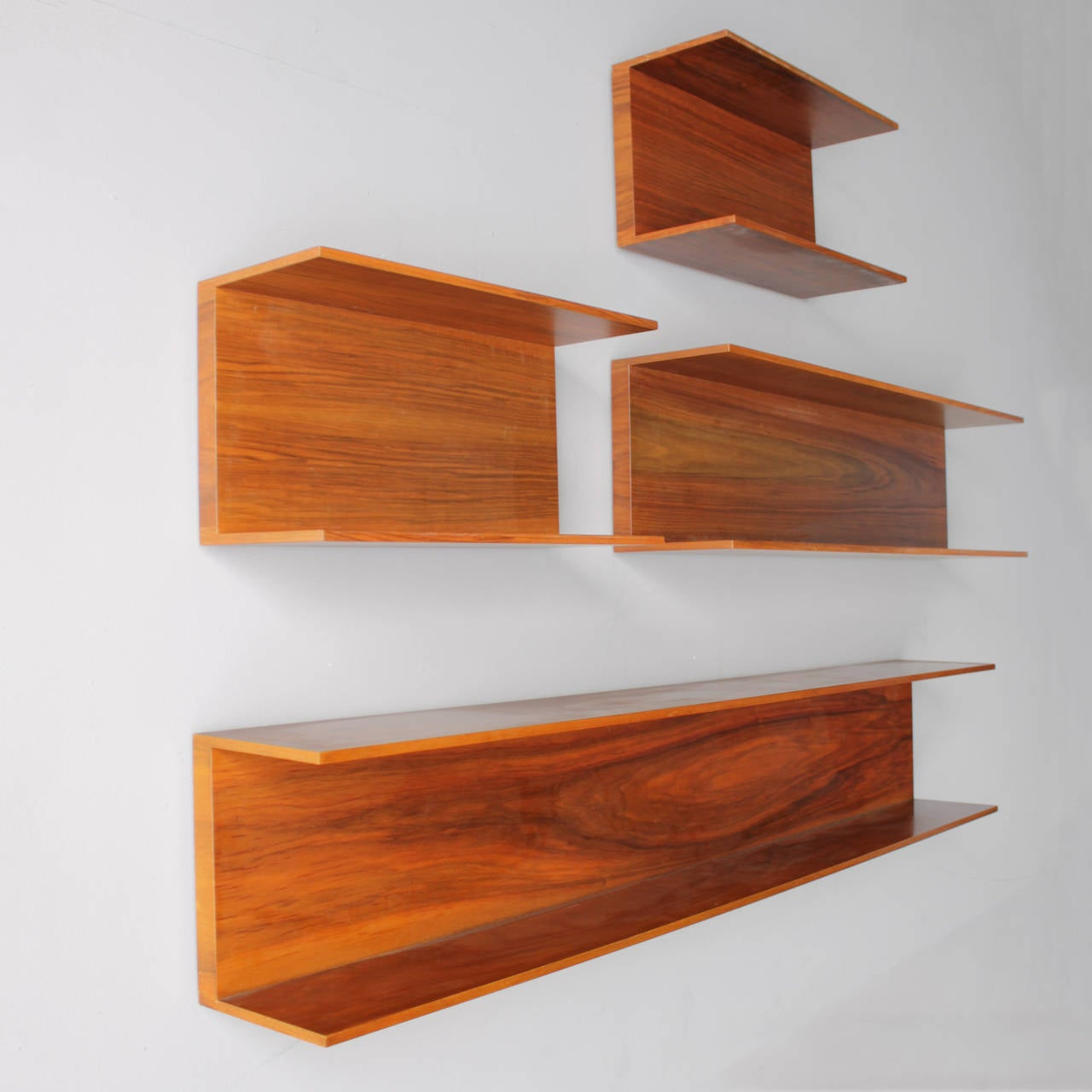 Marvelous photograph of Wall Shelves by Wilhelm Renz in Walnut For Sale at 1stdibs with #B14D1A color and 1280x1280 pixels