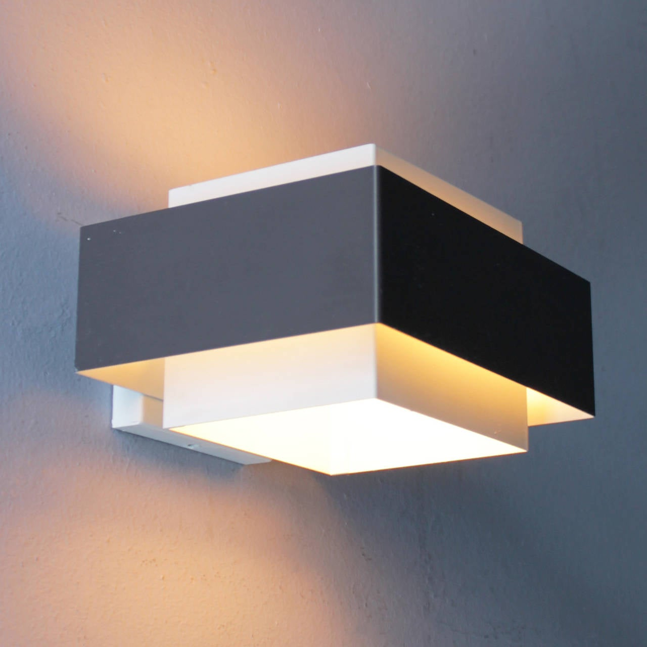 Set of Eight Wall Lights by Philips at 1stdibs
