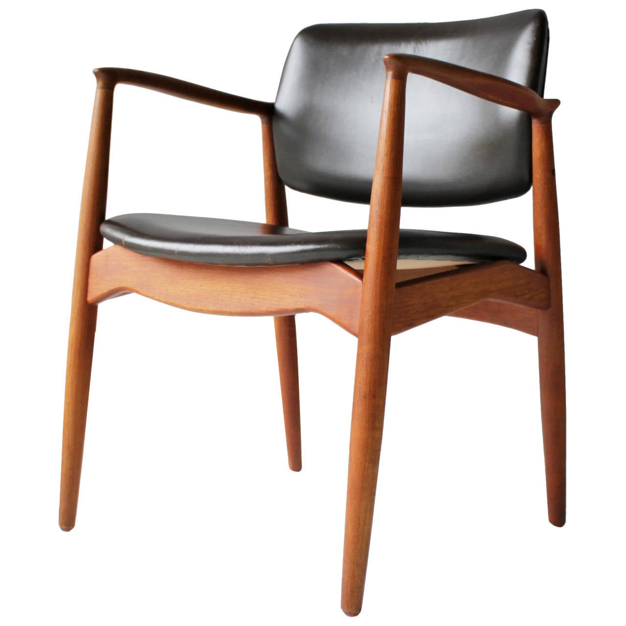 Teak and Leather Chair by Eric Buck for Ø. Mobler, Denmark For ...