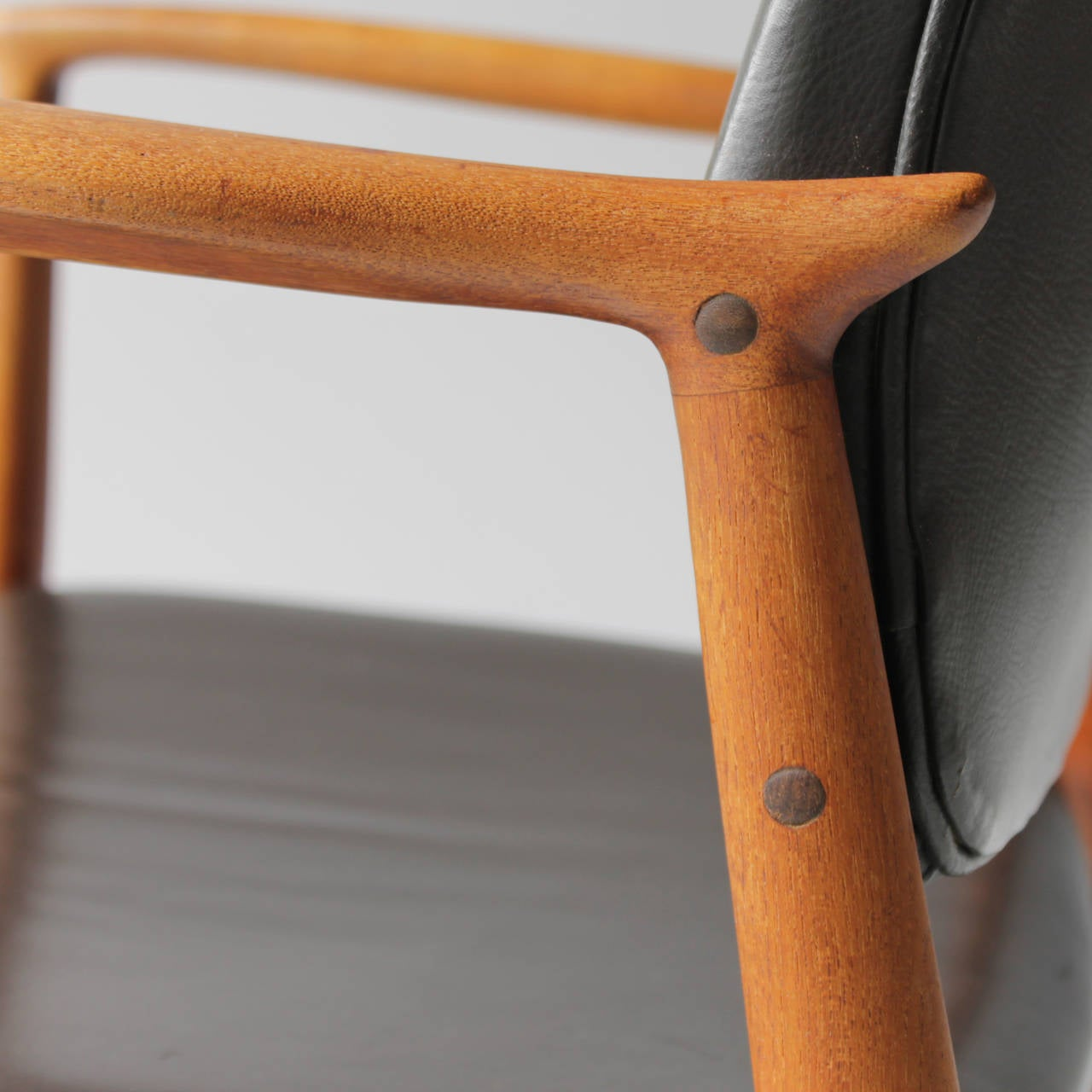 Teak and Leather Chair by Eric Buck for Ø. Mobler, Denmark For Sale 2