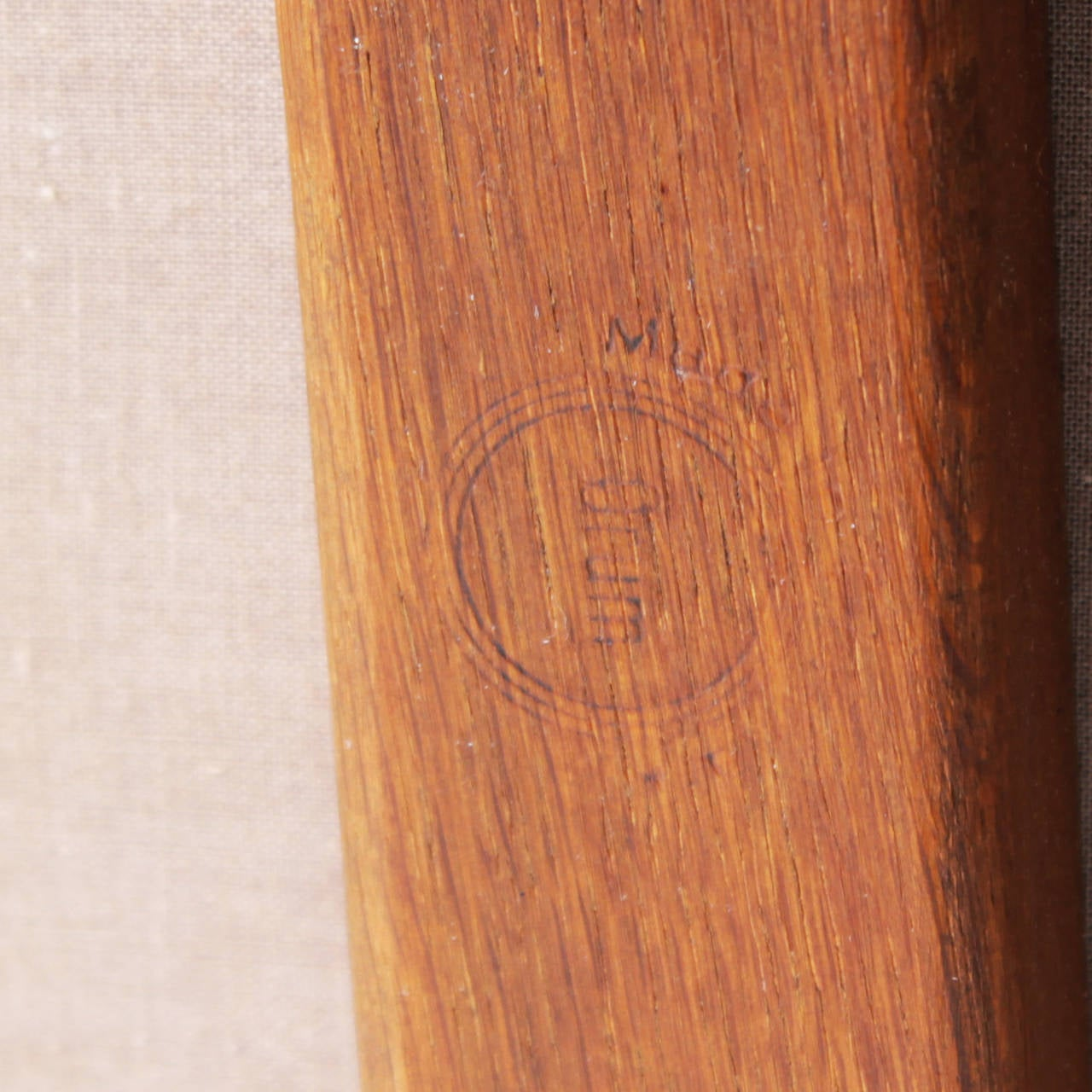 Teak and Leather Chair by Eric Buck for Ø. Mobler, Denmark For Sale 4