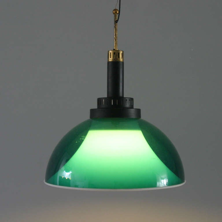 Mid-20th Century Italian Perspex Lamp by Stilux For Sale