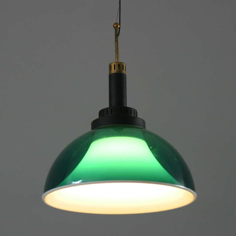 Brass Italian Perspex Lamp by Stilux For Sale