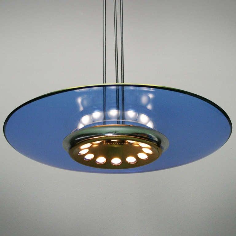 chandelier by max ingrand for fontana arte at 1stdibs. Black Bedroom Furniture Sets. Home Design Ideas