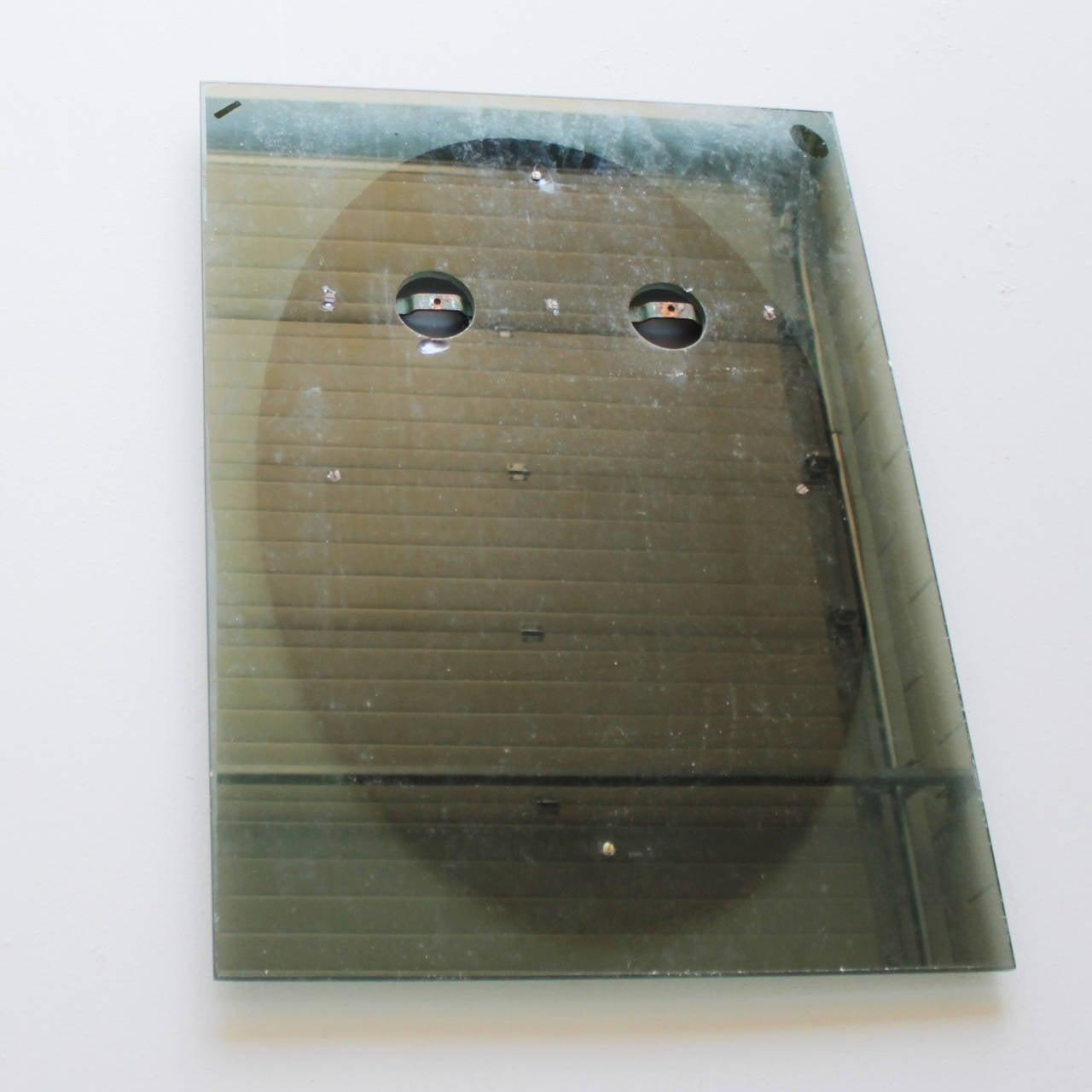 Heavy Italian Crystal Glass Mirror Marked Caprotti For Sale 2