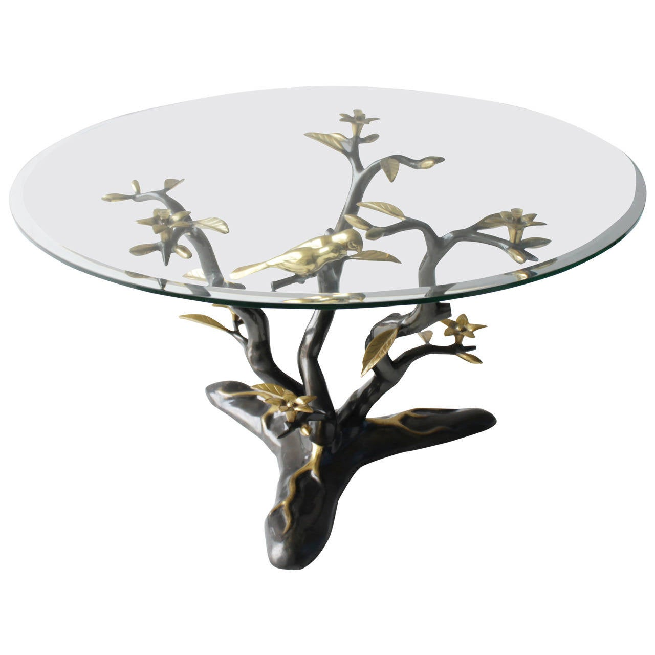 brass tree coffee table at 1stdibs
