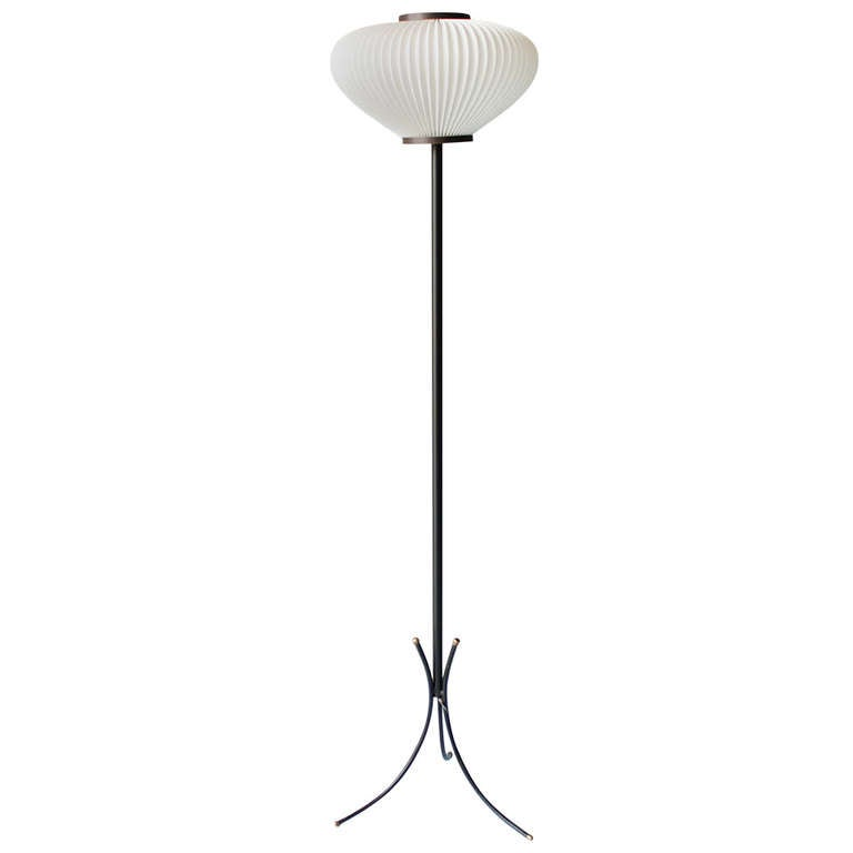 Tripod Floor Lamp Attributed to Maison Rispal For Sale