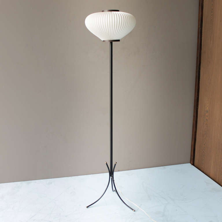 Tripod Floor Lamp Attributed to Maison Rispal.