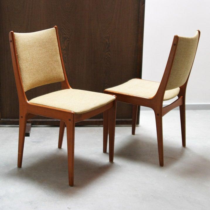 5 Danish Teak Dining Chairs Eric Buck At 1stdibs