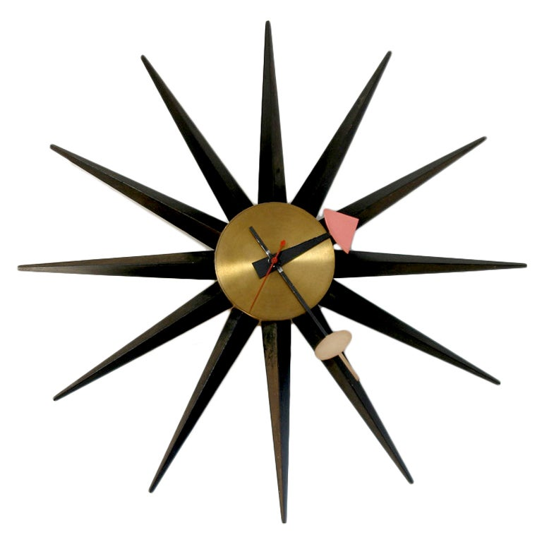 George nelson sunburst clock 2202 at 1stdibs for Nelson wall clock