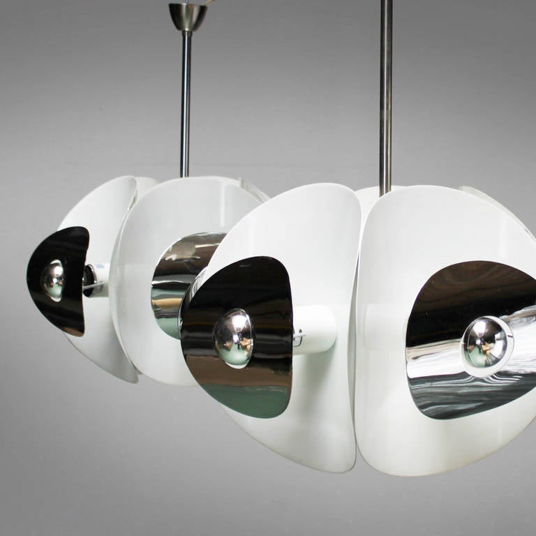 Set of Three Italian Mirror Pendants by Brevettato For Sale 4