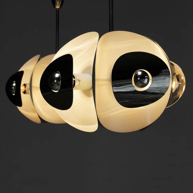 Set of Three Italian Mirror Pendants by Brevettato For Sale 3
