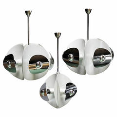 Set of Three Italian Mirror Pendants