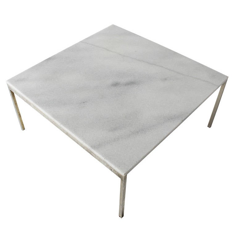 marble coffee table by florence knoll at 1stdibs. Black Bedroom Furniture Sets. Home Design Ideas