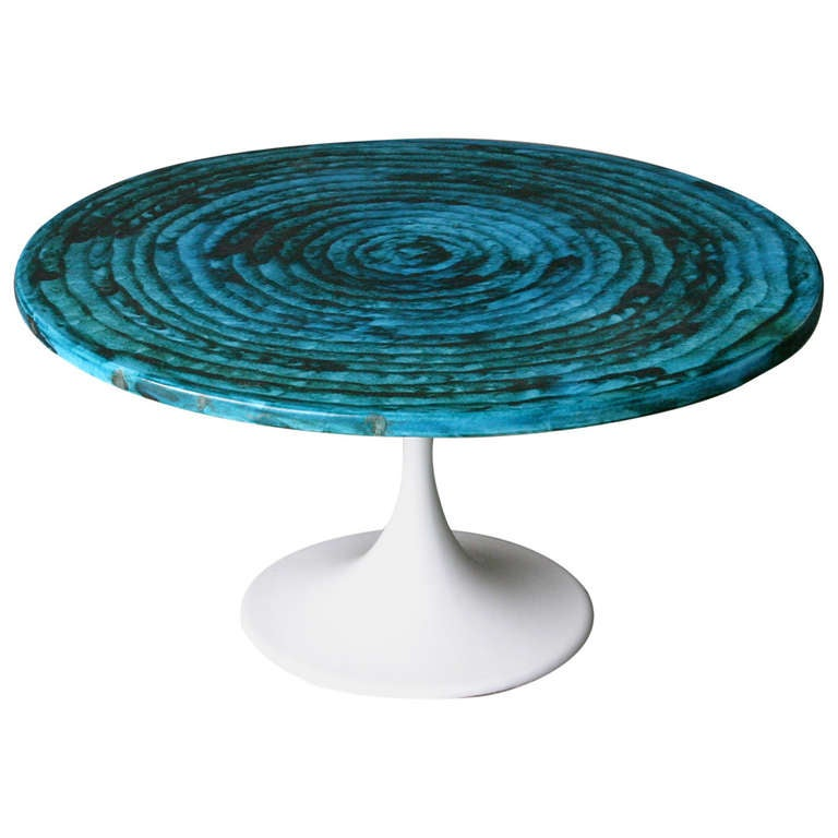 Ceramic Coffee Table 39 Rimini Blue 39 At 1stdibs