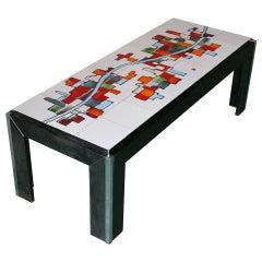 Ceramic Tile Top Coffee Table for Adri Belgique