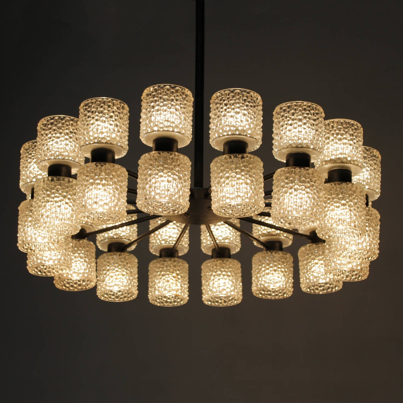 Large Collection Of Matching Raak Lighting Fixtures For