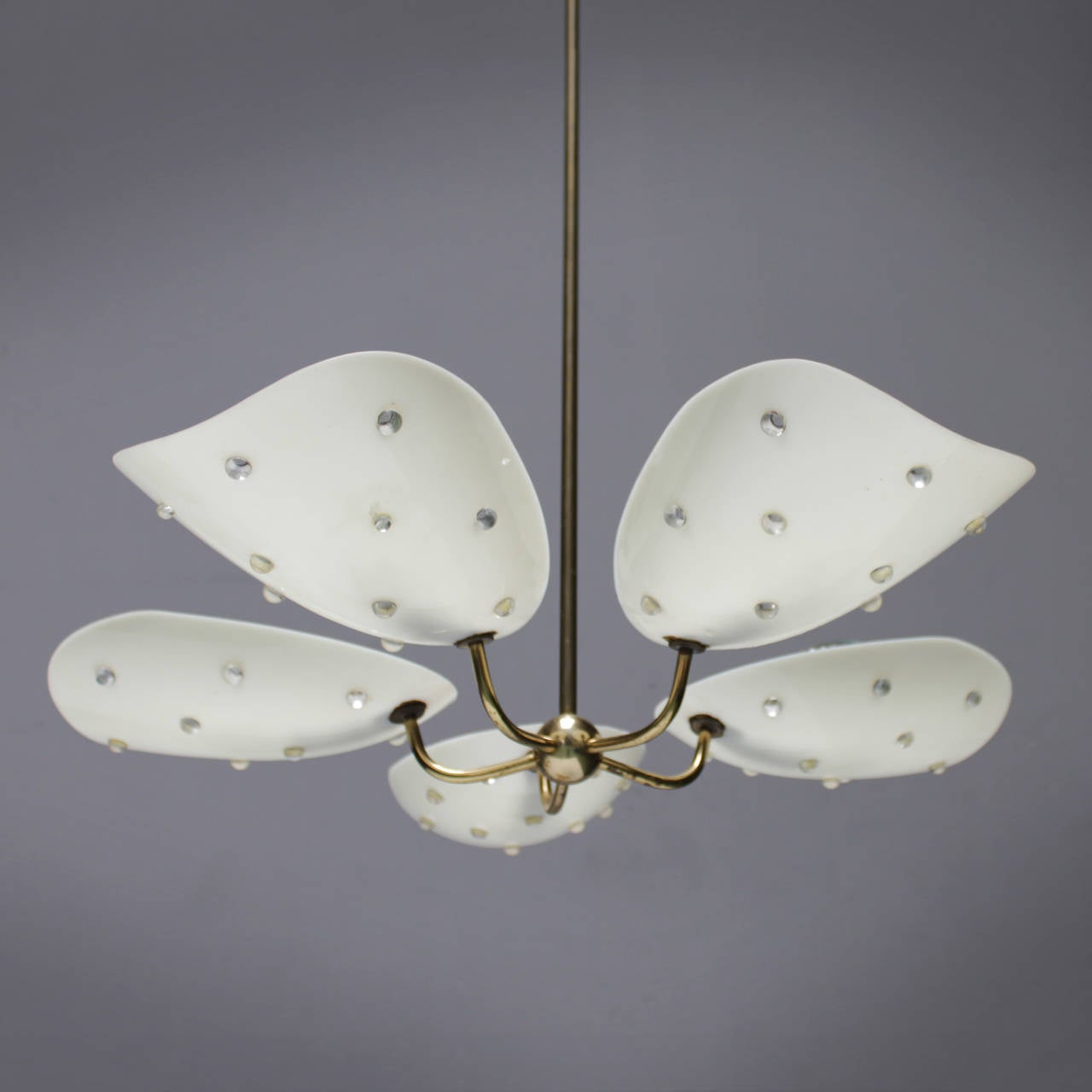 Lucite And Brass Chandelier Attributed To Stejnar At 1stdibs