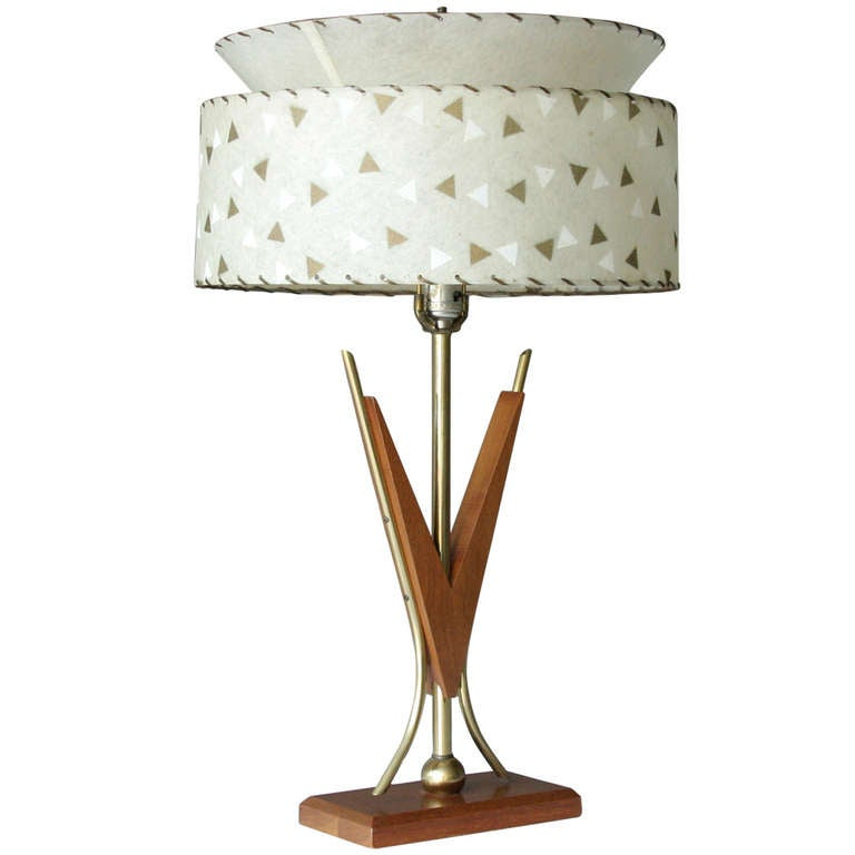 Mid Century Vintage Lights For Sale: Midcentury American Teak Lamp For Sale At 1stdibs