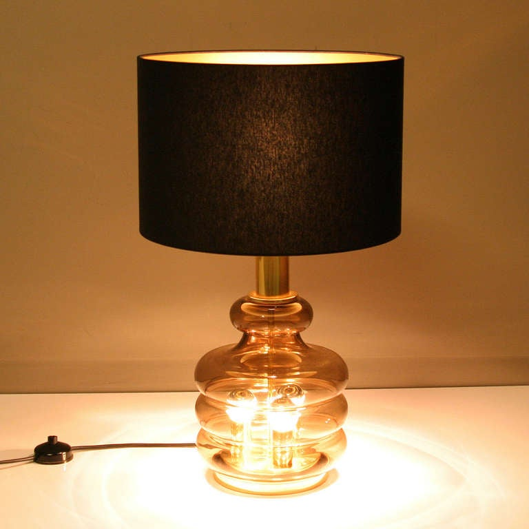 glass table lamp for sale at 1stdibs. Black Bedroom Furniture Sets. Home Design Ideas
