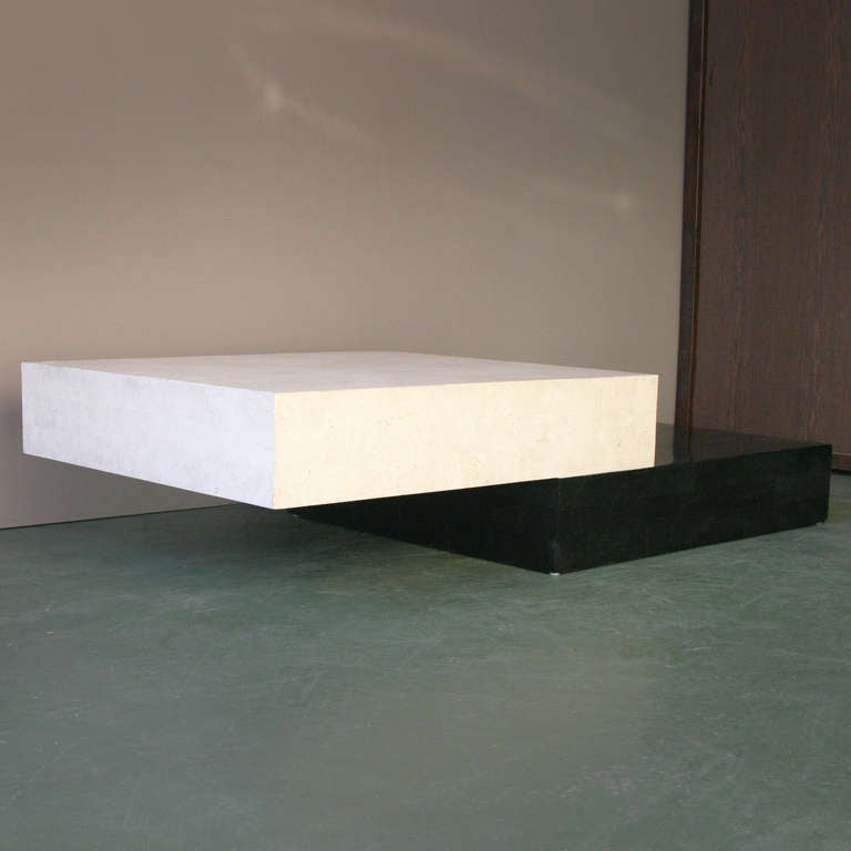 Architectural Minimal Coffee Table For Sale 3