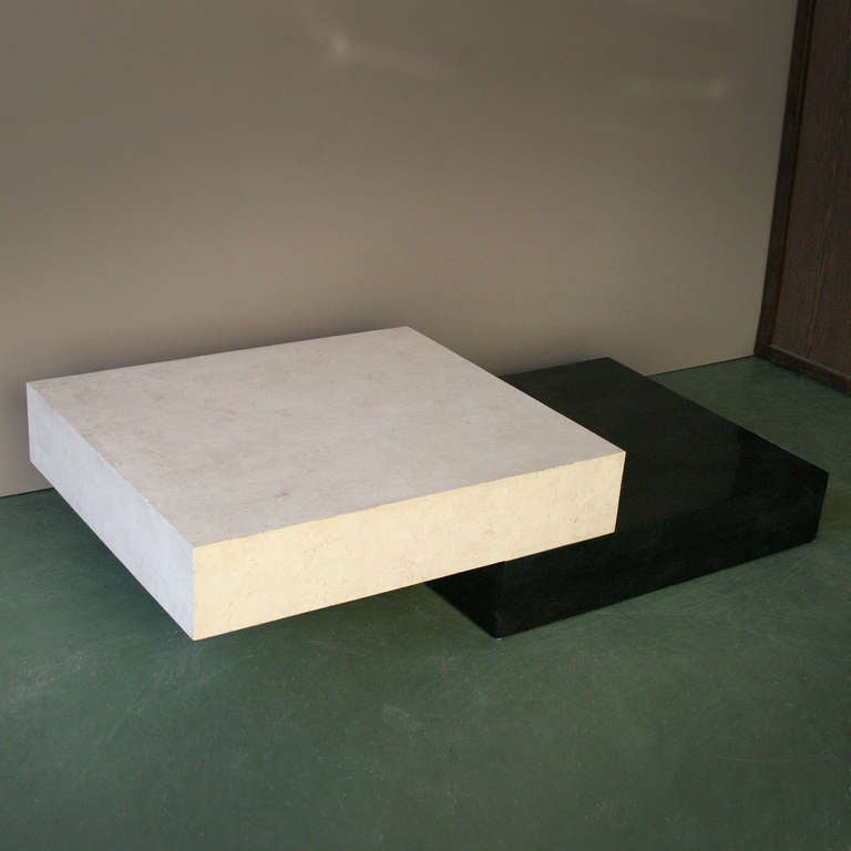 Architectural Minimal Coffee Table For Sale 1