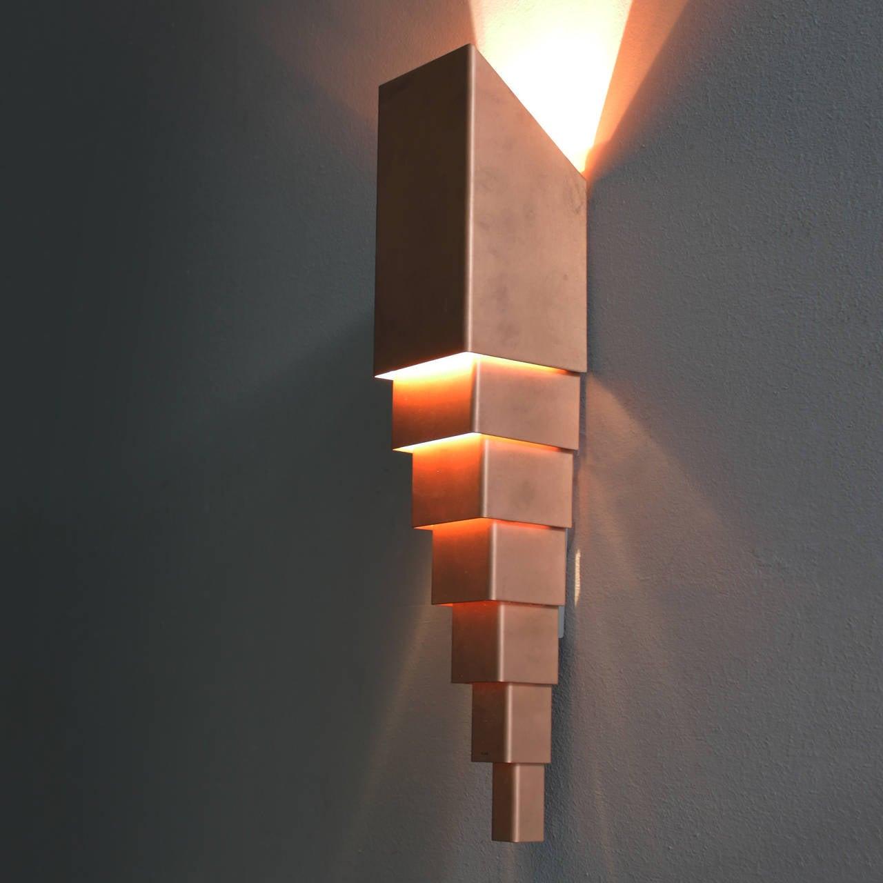 Pair of Scandinavian Architectural Wall Lamps at 1stdibs