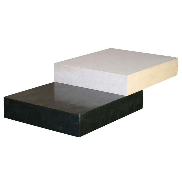 Architectural Minimal Coffee Table For Sale