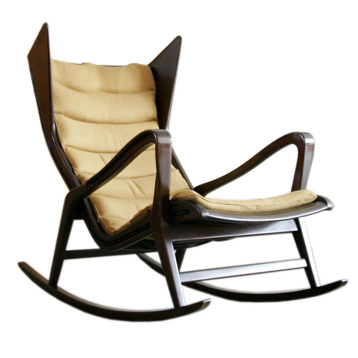 Rocking Chair By Gio Ponti For Cassina At 1stdibs