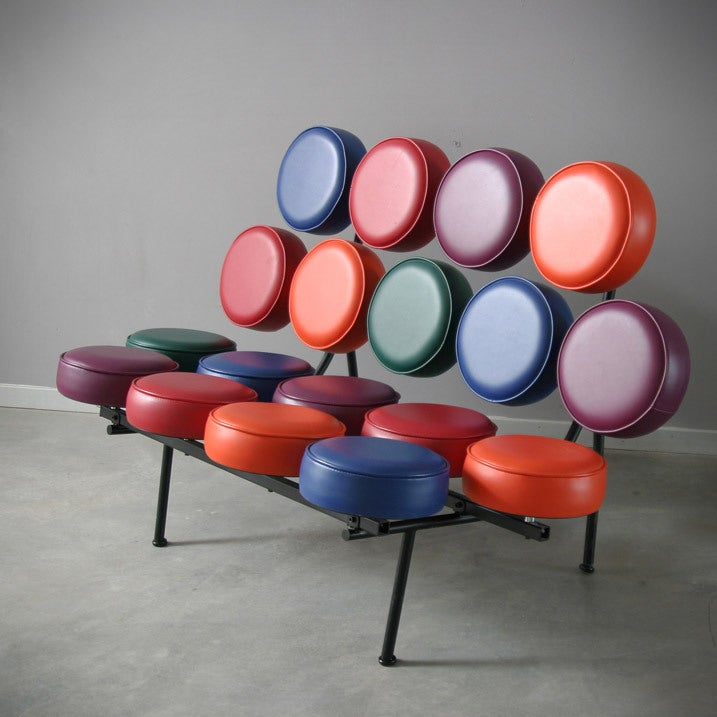 A Pair Of George Nelson Marshmallow Sofas For Vitra At 1stdibs